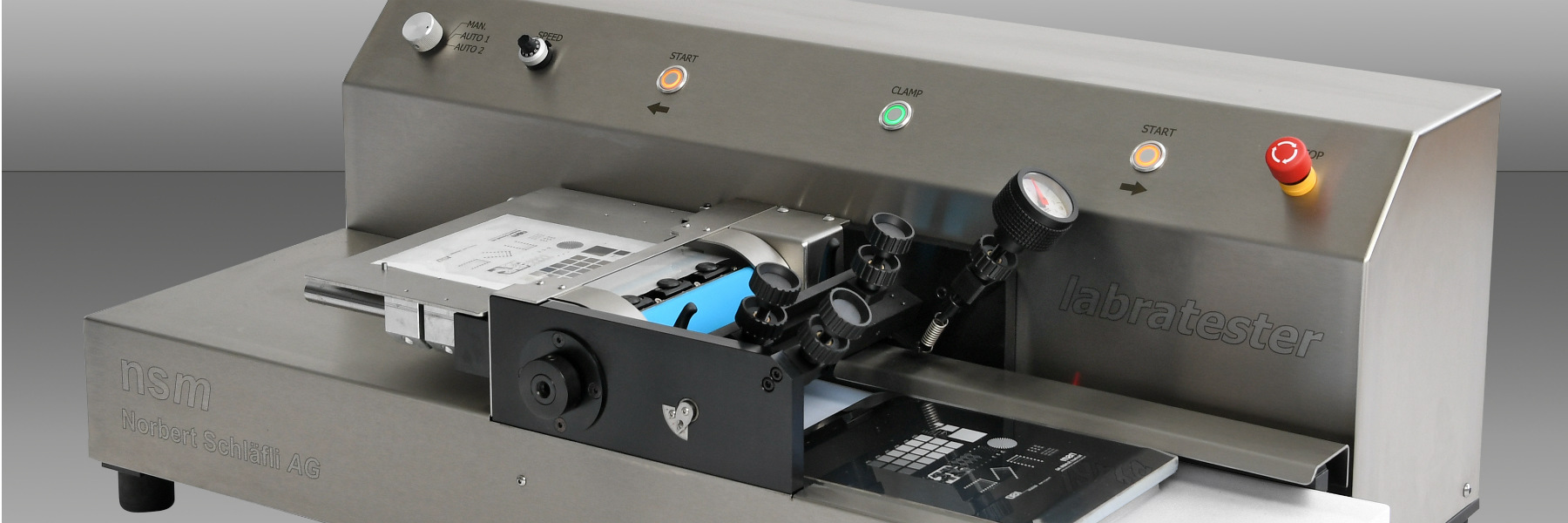 labratester 180 | laboratory sheet-fed gravure printing maschine by nsm